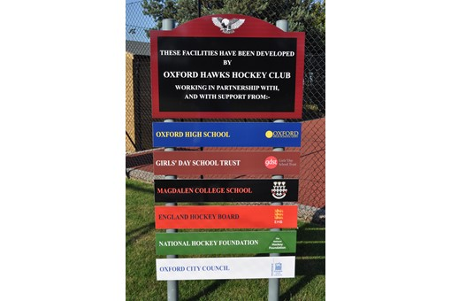 sign at entrance to new pitches
