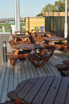 decking and tables